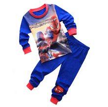 2018 Marvel Avengers Meninos Sleepwear Homem de ferro Pijamas Crianças Conjuntos de Pijama Do Bebê Meninas Dos Desenhos Animados Capitão América Hulk Toy Story Pijamas(China)