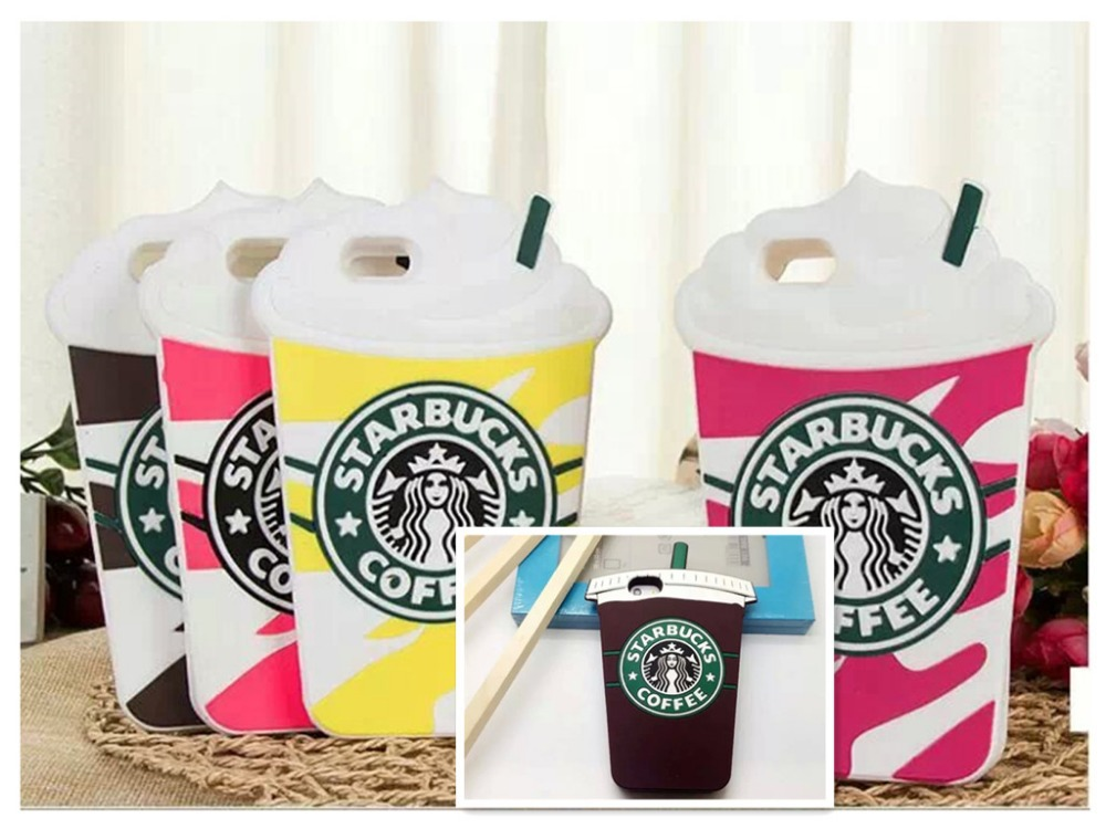 Free shipping New 3D starbuck coffee cup model pattern soft silicon back cover colorful phone case for iPhone 5 5G 5S(China (Mainland))