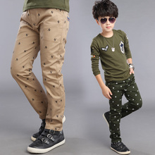 Retail children's clothing autumn and winter male child 100% cotton trousers child casual pants sports pants yarn card for boys(China (Mainland))