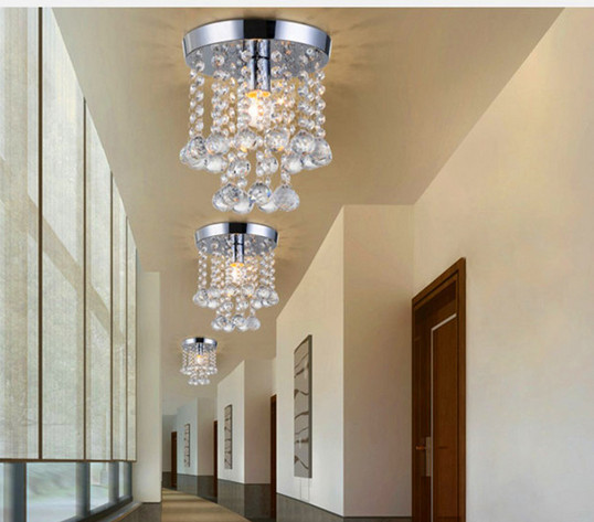 Ceiling Lamps For Hallways : Swedenborg crystal aisle lights balcony lamp hallway