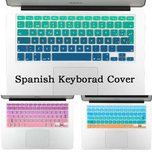 Euro Spanish English Russia water Dust proof keyboard cover for macbook air 13 protector Gradual change colors pro 13 15 retina(China (Mainland))