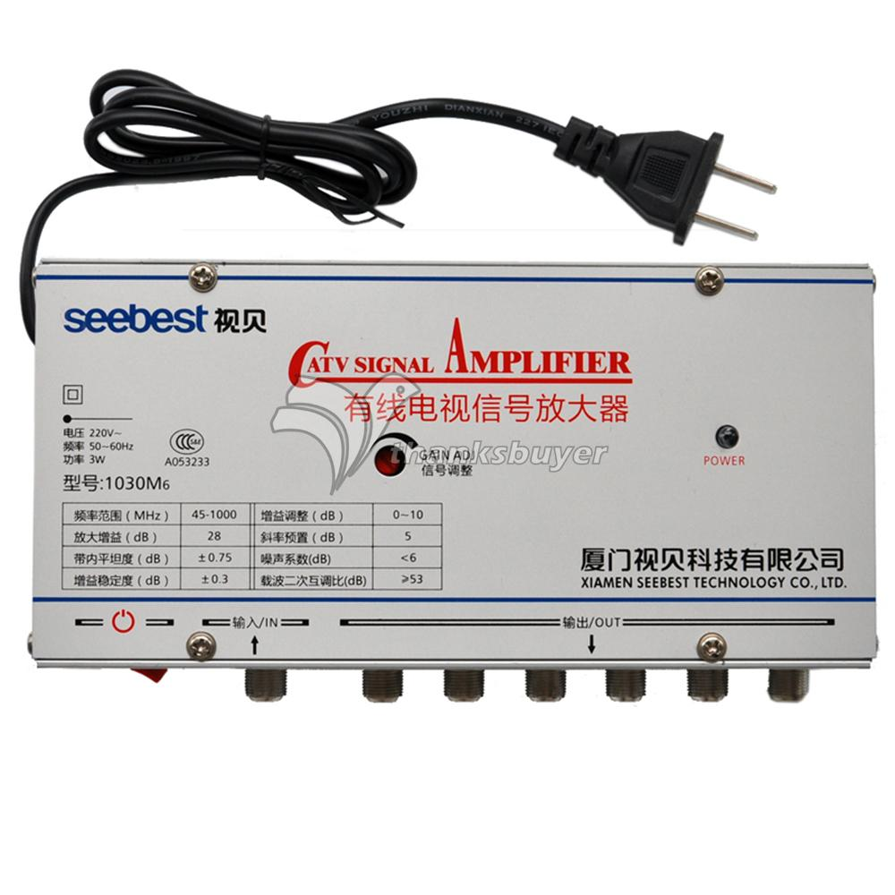 Seebest Original Authentic CATV Signal Amplifier 30DB Any Closed Circuit Television Amplifier SB-1030M6(China (Mainland))