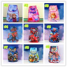 Snow Queen Elsa Anna  spiderman sofia /Marvel Avengers children backpacks cartoon school bags for boys girls mochila infantil(China (Mainland))