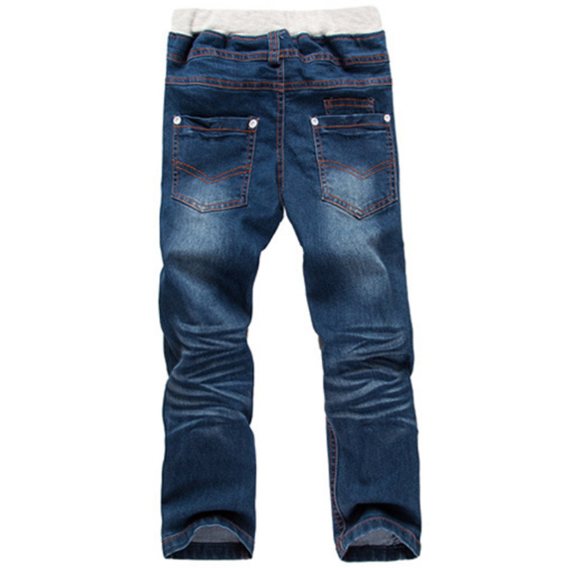 Solid Mid Jeans Kids Rushed Summer Girl Jeans Children Trousers(China (Mainland))