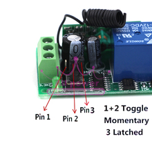 Dc 12v wireless remote control switch dc motor reversible control 2 controller and 12 receiver