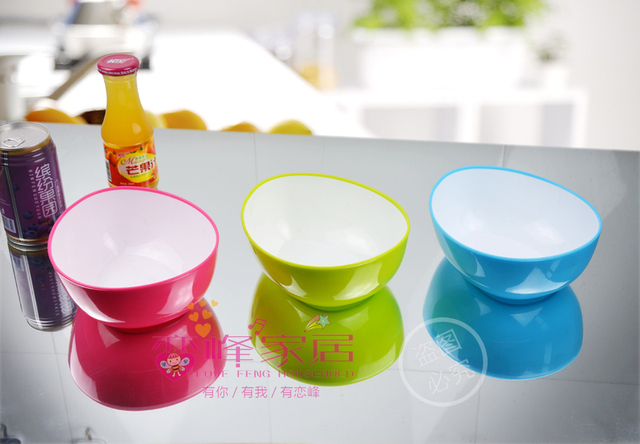 Large soup bowl plastic bowl drop type triangle salad bowl salad bowl noodle bowl rice bowl instant noodles bowl