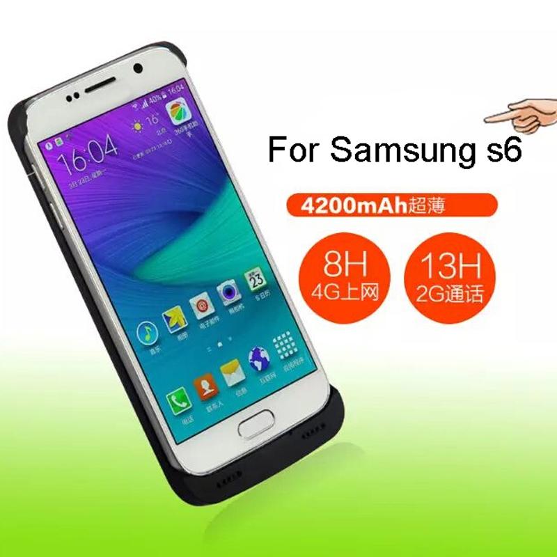 4200Mah For Samsung S 6 Edge Power Case External Battery ...