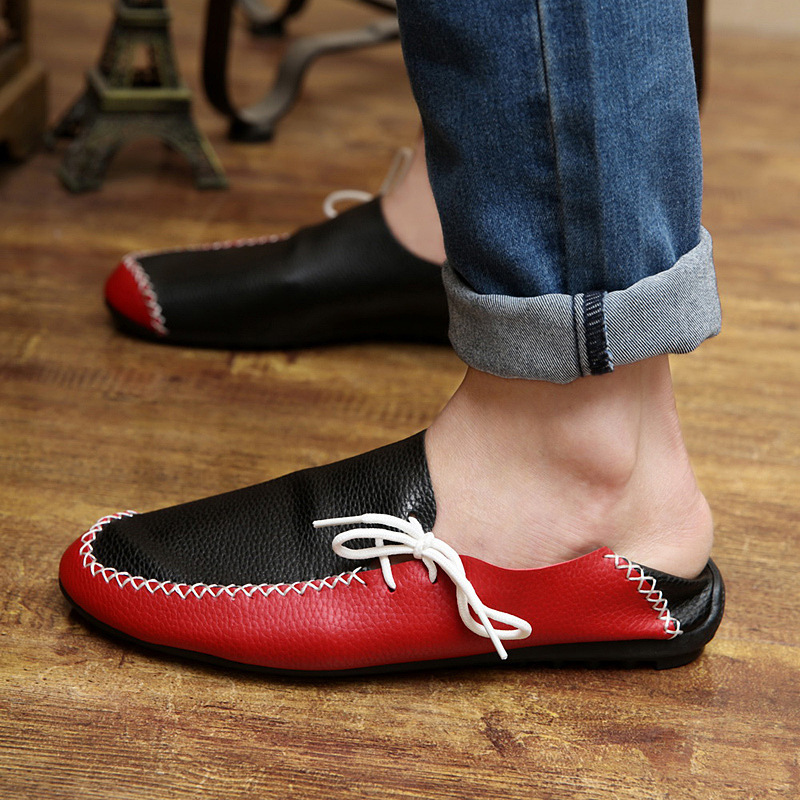 2015 summer autumn fashion men shoes casual breathable leather driving flats adult male loafers sneakers size