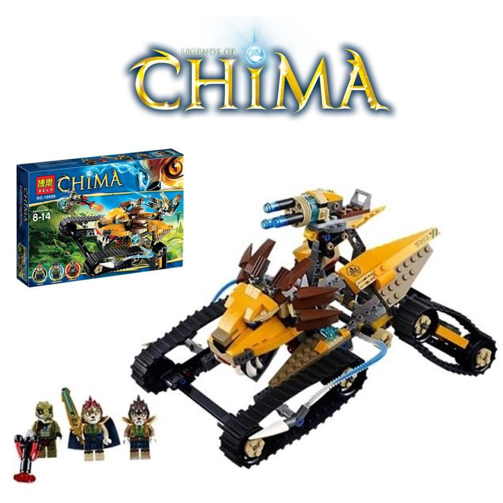 Legends of Chima 442pcs LAVAL's Royal Fighter Truck Tank Car Vehicle Building Blocks Minifigure Toy Set Compatible with LEGO(China (Mainland))