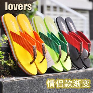 2014 New Slip-Resistant Lovers Gradient Flip Flops Summer Male Female Drag The Folder Flat Beach Slippers Sandals<br><br>Aliexpress