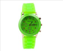 Watch Women Fashion Watch Three eye Six needle Silicon Jelly Color Band Women s Watch assorted