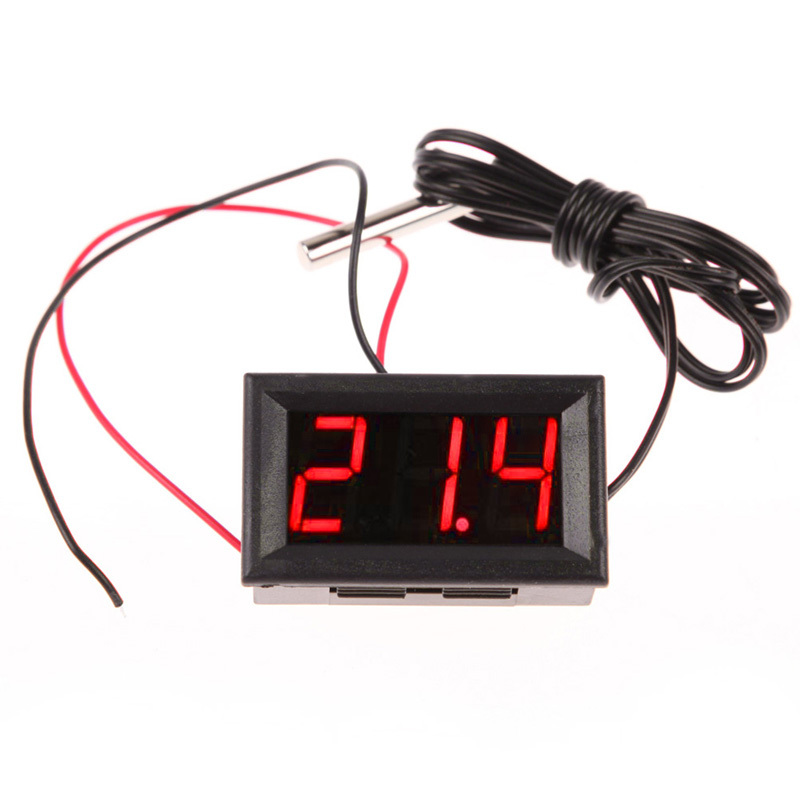 Гаджет  Free Shipping Red DC12V  2m Digital Thermometer Meter Temperature Probe -50~110C Detector None Инструменты