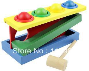 1set Freeshipping knocking ball Educational wooden toys baby kids children Multifunction Early Learning blocks - happy planet store