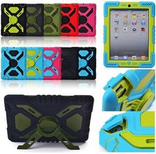 Pepkoo Spider Extreme Military Heavy Duty Waterproof Dust/Shock Proof with stand Hang cover Case For iPad 2 3 4,(China (Mainland))