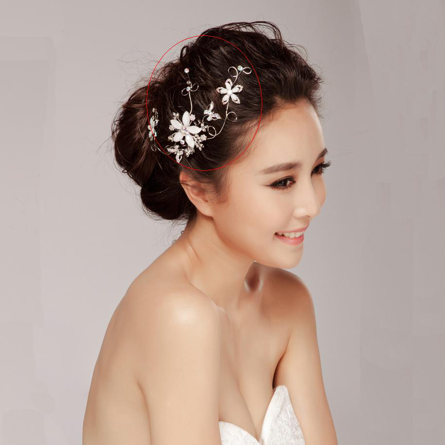 Free Shipping Vintage Silver Hair Jewelry Clip Nice Flower Wedding Hair Ornaments For Bridal Hair Accessories