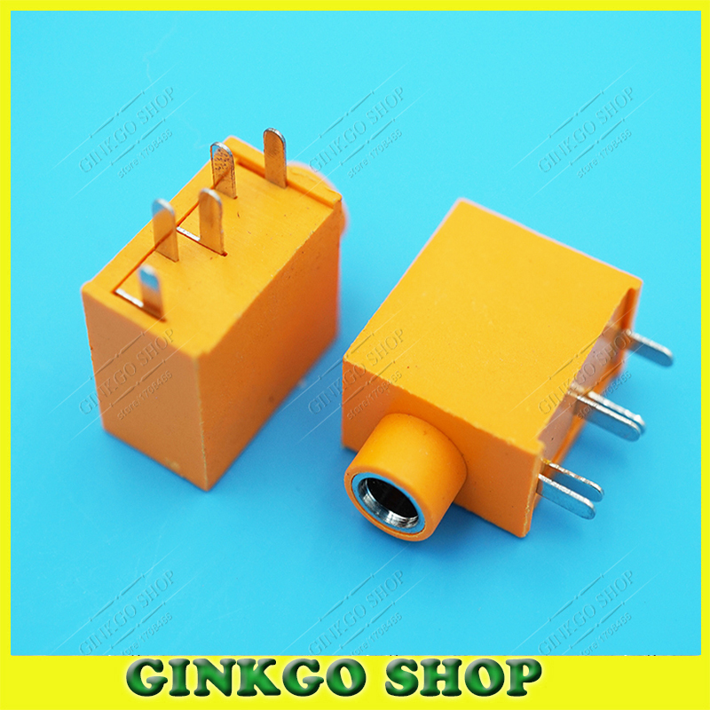 500pcs/lot Dual Track 3.5mm Audio Jack Headphone Jack with Copper Head 5DIP Pins PJ-325 Yellow Colour Free shipping<br><br>Aliexpress