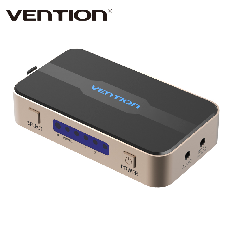 Vention 3 input 1 out put HDMI Switch Switcher HDMI Splitter with Audio for XBOX 360 PS3 PS4 Smart HD 1080P 3 Input to 1 Output<br><br>Aliexpress