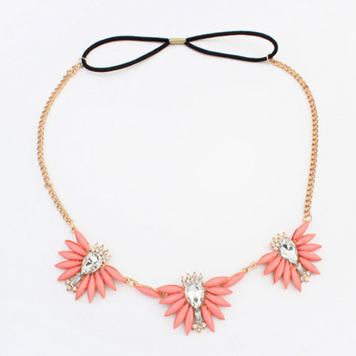 2015 The Fresh and Bright Sweet Headband For Women Head Jewelry With CrystalsCan be used as Necklace Wholesale and Retail(China (Mainland))