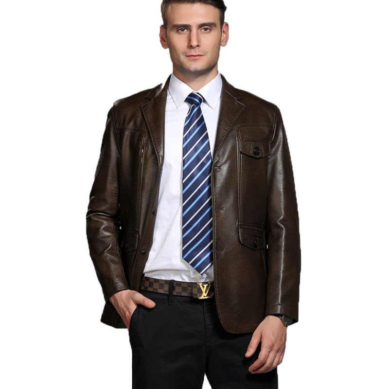 Genuine &amp;Pu leather jacket men Jaqueta Masculinas Inverno Couro Jacket Men Jaquetas De Couro Mens leather jackets plus 3xl 179RОдежда и ак�е��уары<br><br><br>Aliexpress