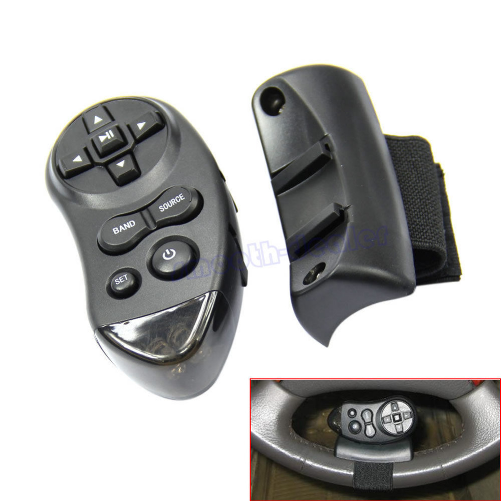 On Sale Car Universal Steering Wheel Remote Control Learning For Car CD DVD VCD Wholesale(China (Mainland))