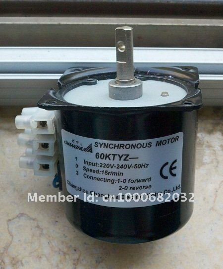 For Electric Screen, AC Synchronous Motor 60KTYZ-B 220V 50/60Hz 15RPM CW/CCW, ship by CHINA POST!-Very Low price.