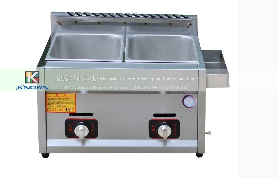 Hot sale gas heating fryer commercial fried chicken potato frying machine two baskets deep fryer