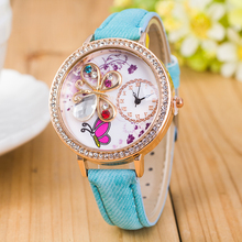 Top popular digital watch women.Sloggi 3D butterfly high quality relogio masculino Quartz Watch lady / women's jewelry watch