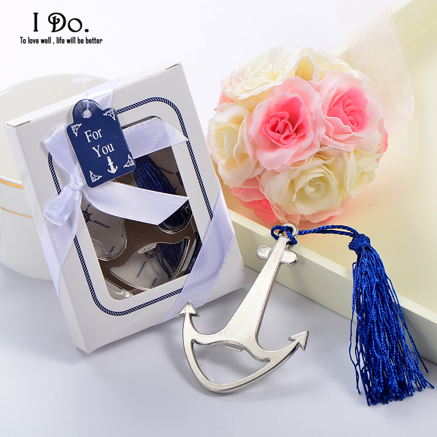 free shipping anchor bottle opener wedding favors and gifts wedding gifts for guests wedding. Black Bedroom Furniture Sets. Home Design Ideas