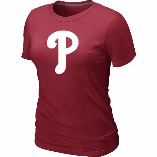 MLB Philadelphia Phillies Heathered Red Women's Nike Blended T-Shirt