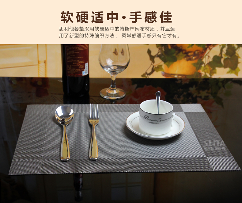 Placemat quality fashion pvc coasters bowl pad heat insulation pad dining table mat western pad disc pads quality(China (Mainland))