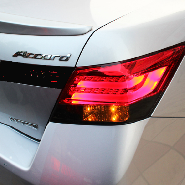 FOR HONDA for ACCORD 2008-2012 Year for bmw Style LED Tail Lights Red Black Color YZ(China (Mainland))