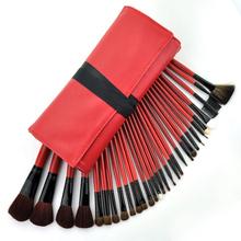 30PCS Superior PRO Soft Cosmetic Makeup Brush Set Kit + Red Bag Case Hot TL#8
