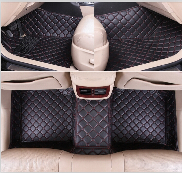 2015 Newly & Free shipping! Special floor mats BMW 7 series 2014-2008 waterproof durable leather carpets 7 series 2015