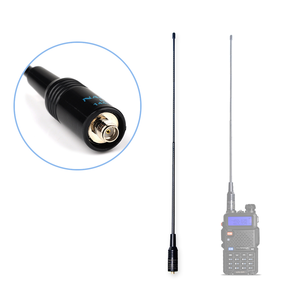 NAGOYA NA-771 Dual Band Walkie Talkie Baofeng Antenna VHF/UHF SMA-Female for Handheld Radio Baofeng UV-5R UV-82 GT-3 BF-888S(China (Mainland))
