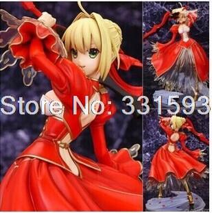 Fate Stay Night Fate/EXTRA Saber Action Figure Anime Collectible Model PVC Toy 9