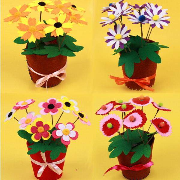 Как сделать из бумаги цветы в горшке