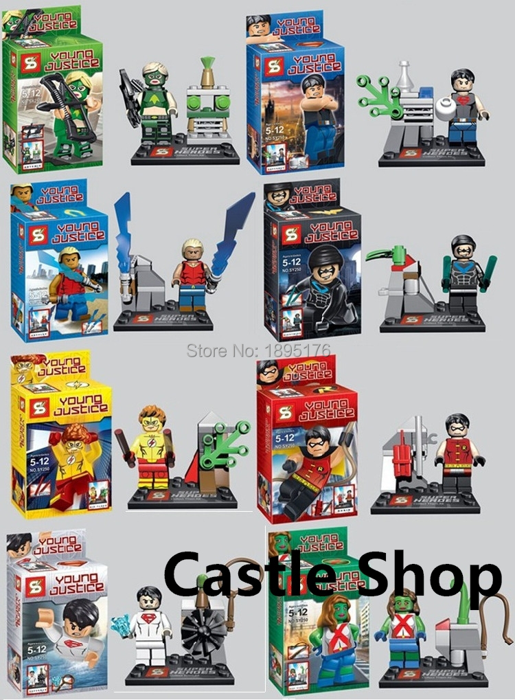Sen s superheroes the Avengers Juvenile Justice League the Flash people assembling toy building blocks SY250(China (Mainland))