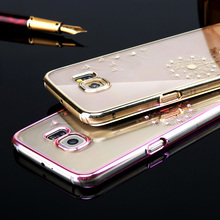 Top Sales! Luxury Clear Transparnet Dandelion Model phone cases for Samsung Galaxy S6 G9200 / S6 Edge phone back housing