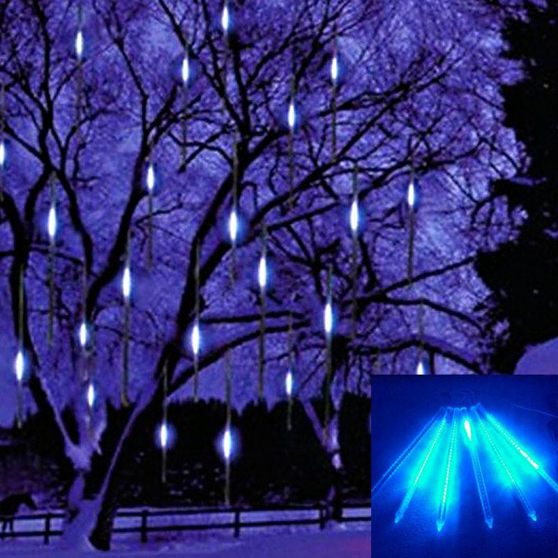 30cm Christmas Decorative Light String Meteor Shower Rain Led Light Lamp White 100-240V EU Plug Xmas Decoration Free Shipping(China (Mainland))