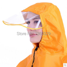 Fashion burberry_ men Womens Long Raincoats Yellow Single Motorcycle Poncho Women Plus Size Red Cloak Thickening Large Hat Brim