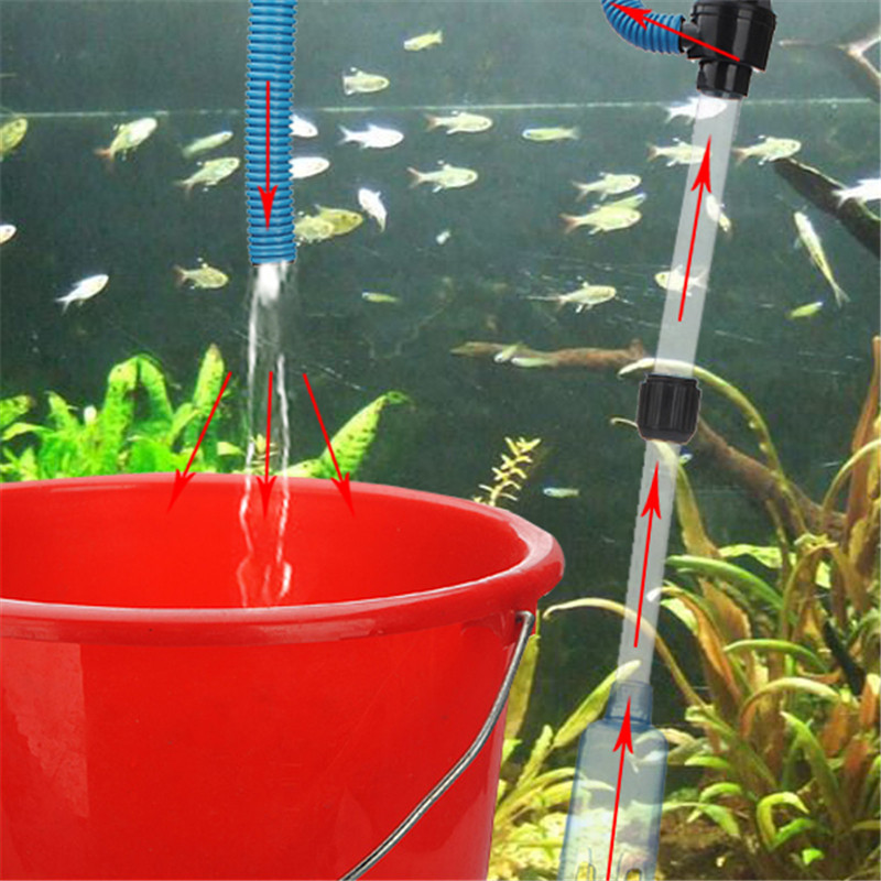 High Quality High Quality ABS Plastic Aquarium Syphon Fish Tank Vacuum Gravel Water Filter Cleaner Powered By Battery(China (Mainland))