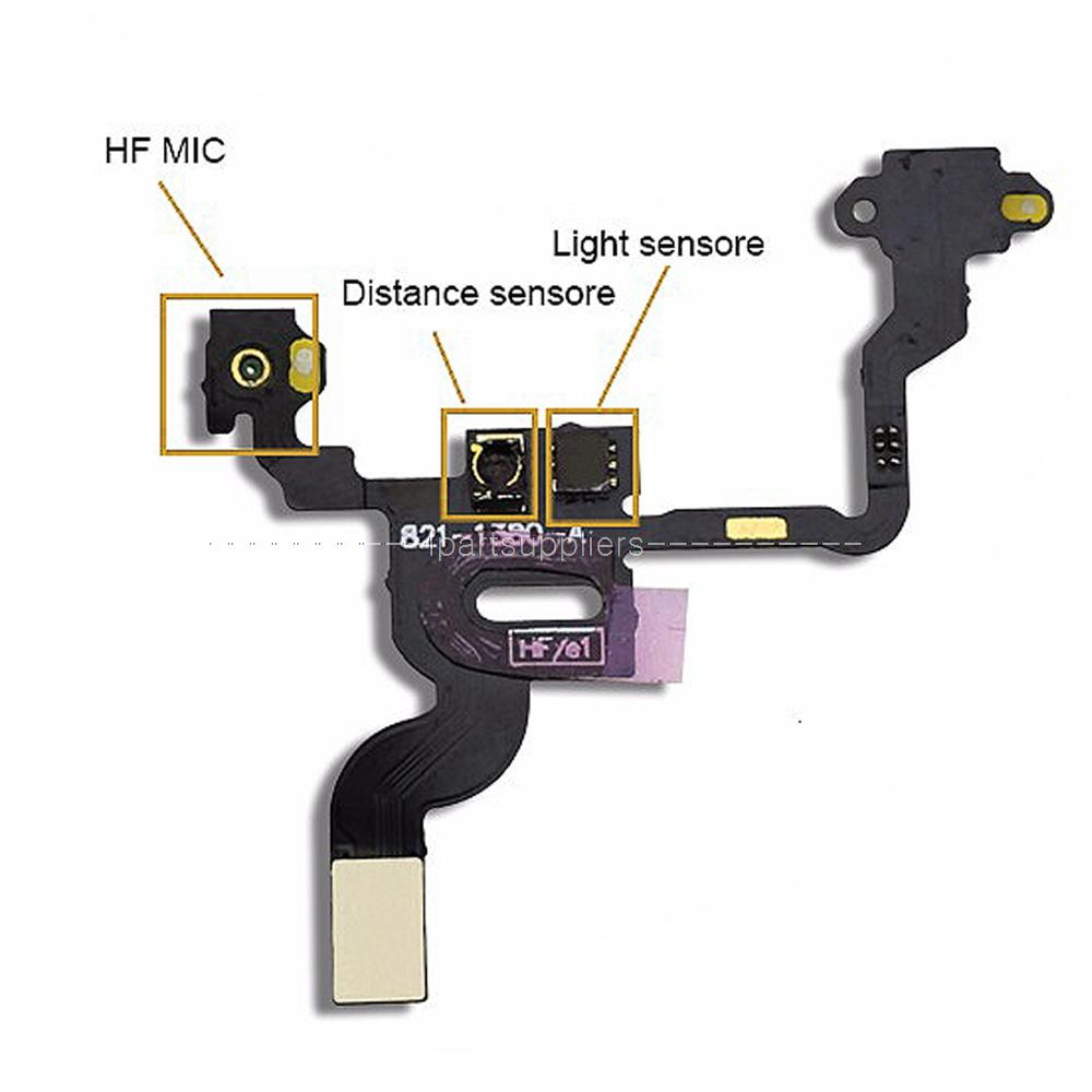 Power ON/OFF Button Flex Cable Replacement Parts and Light Sensor Flex Cable Ribbon for iPhone 4(China (Mainland))