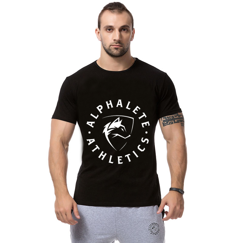 2015 athletics printed t shirt men fitness and for Gym printed t shirts