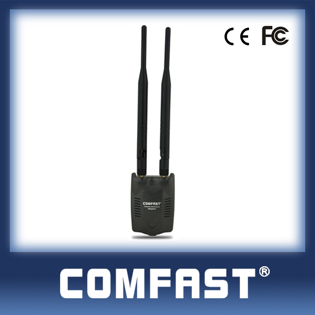 Hot sell Internet wifi transmitter high quality 300Mbps signal adapter COMFAST CF-WU7200ND double antenna wireless wifi adapter(China (Mainland))