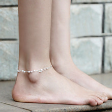 2015 Sexy Lady s Women Anklets Bracelet Silver Frosted Lucky Beads Chain Barefoot Sandal Beach Foot