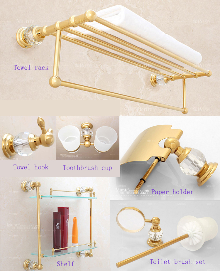 Luxury Free Shipping Bathroom Gold Porcelain Accessories Soap Dish Golden