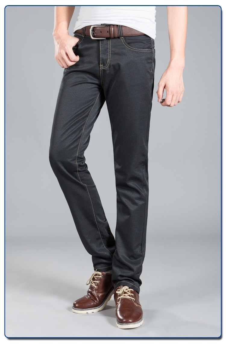 Hot Selling Casual Black Pants For Men Pencil Pants Slim Fit Fashion Mens Workwear Pants Boy ...
