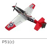 Free shipping by China Air Parcel RC Plane P51 EPO with 1200mm wingspan and Retract PNP(Hong Kong)