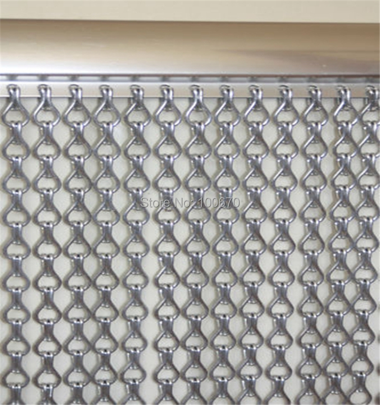Gunmetal Aluminum Chain Link Screen Curtain from Reliable screen ...