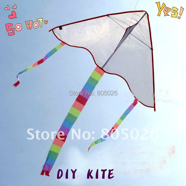 free shipping high quality diy kite 2pcs/lot painting kite with handle line outdoor toys kite flying weifang kite albatross(China (Mainland))